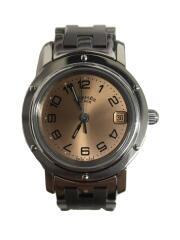 クォーツ腕時計/アナログ/ステンレス/GLD/SLV