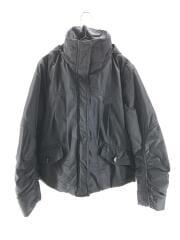 ジャケット/38/ポリエステル/BLK/袖口スレアリ/フード取外し可