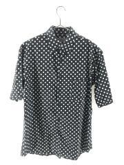 半袖シャツ/3/コットン/BLK/HD-B51-034/水玉/Polka dot