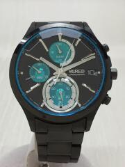 クォーツ腕時計/アナログ/ステンレス/ブラック/VR33-0AA0