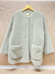 ノーカラーシャツカーブボアジャケット/コート/09WFJ195103/1/ポリエステル/グレー