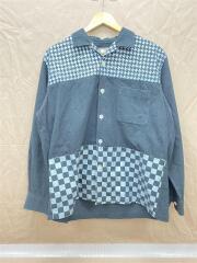 HH-B070/長袖シャツ/コットン/ブラック