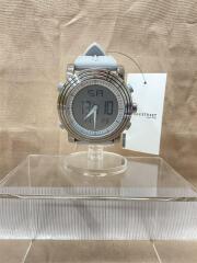 SINOBI/クォーツ腕時計/S9368G/デジタル/ラバー/ブラック/グレー