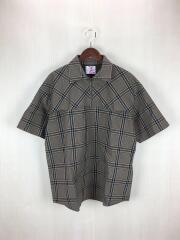半袖シャツ/M/コットン/BRW/チェック