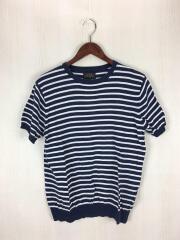 ニットTシャツ/11-05-0034-048/Tシャツ/S/コットン/NVY/ボーダー