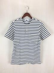 Tシャツ/XS/コットン/WHT/ボーダー