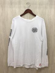 長袖Tシャツ/L/コットン/WHT