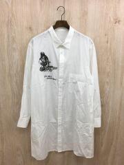 長袖シャツ/2/コットン/WHT/プリント