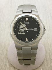 Disney/E111-K16750/ソーラー腕時計/アナログ/--/BLK/SLV