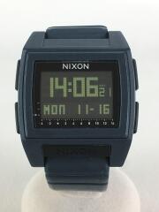 クォーツ腕時計/アナログ/ラバー/NVY