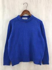 セーター(薄手)/42/ウール/BLU/使用感有