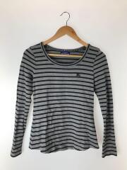 長袖Tシャツ/38/コットン/GRY/ボーダー