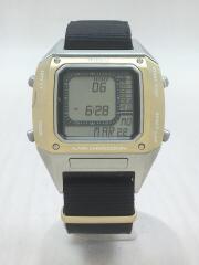 BEAMS/w865-kkb0/腕時計/デジタル/ナイロン/GLD/BLK