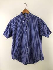 半袖シャツ/1/コットン/ブルー/ストライプ/GM182-50501