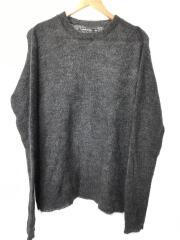 セーター(厚手)/0/ウール/グレー/無地/BB18FW-KN10Y
