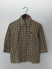 シャツ/40/コットン/BEG/チェック