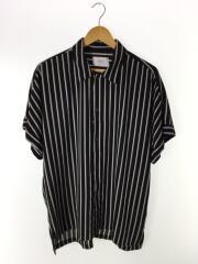 半袖シャツ/2/ポリエステル/BLK/ストライプ/108202014