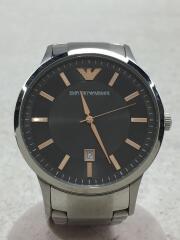 腕時計/アナログ/ステンレス/シルバー/コマ有/付属品有/AR-2514