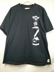 Tシャツ/XL/コットン/ブラック/プリント/いざ鎌倉