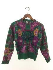 セーター(厚手)/ウール/グリーン/チェック