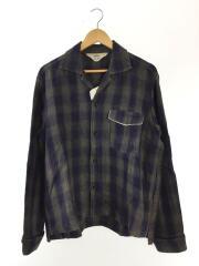 17SS/Check Linen GIGOLO Shirt/使用感/3/リネン/NVY/チェック/17S27