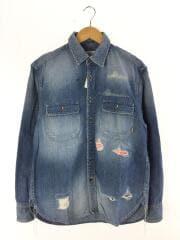 19SS/Crash repair l/s denim shirt/長袖シャツ/S/デニム/IDG