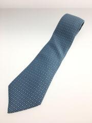 ネクタイ/シルク/BLU/総柄/silk100/絹/シルク/フランス製