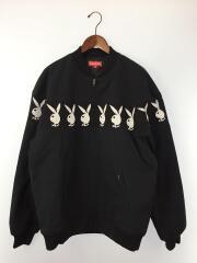 ジャケット/XL/コットン/BLK/19SS/Playboy Crew Jacket