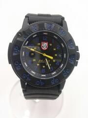 腕時計/アナログ/ラバー/BLK/BLK/ Luna-ECLIPSE/Luminox3000