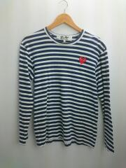 長袖Tシャツ/M/コットン/NVY/ボーダー/AZ-T010/ボーダーTシャツ/