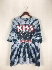 KISS/2016SS/DESTROYER 76/LIQUID BLUE/Tシャツ/XXL/コットン/マルチカラー