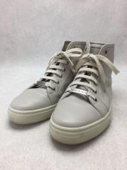 ハイカットスニーカー/37.5/BEG/レザー/423299/Ivory Leather Sneakers