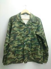 ジャケット/M/ポリエステル/KHK/カモフラ/C8-H603/コーチジャケット