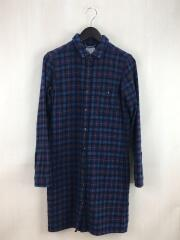 Wool Onepiece TR/NRW61210/シャツワンピース/M/ウール/NVY/チェック