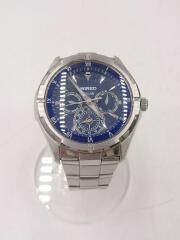 クォーツ腕時計/アナログ/--/BLU/SLV/SOLAR