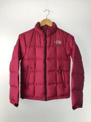 ダウンジャケット/S/ナイロン/PNK/ローツェジャケット/袖口や襟にシミあり