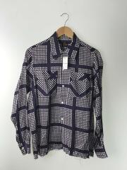 オープンカラーシャツ/長袖シャツ/S/コットン/PUP