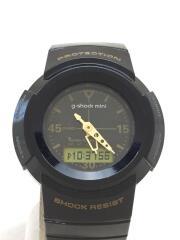 カシオ/クォーツ腕時計/デジタル/ラバー/BLK/BLK/GWN-50G