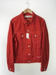 19SS/Slim Denim Jacket/Gジャン/XL/デニム/RED/OMYE005S19C31017/スリムデニムジャケット