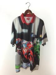 20SS/Racing Soccer Jersey/ポロシャツ/XL/ポリエステル/BLK