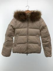 ダウンジャケット/袖や裾にシミ有フロント部分汚れ有/36/ナイロン/WHT