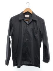 マイクロノーヴァオープンカラーシャツ/タグ付き/長袖シャツ/1/ポリエステル/BLK