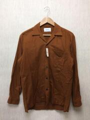 ネルオープンカラーシャツ/長袖シャツ/1/コットン/BRW/107400004