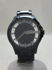 クォーツ腕時計/アナログ/ステンレス/BLK/AX2189