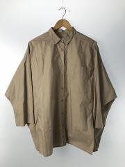 長袖シャツ/ポンチョ風ボリュームシャツ/09WFB194031/FREE/コットン/BEG