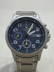 クォーツ腕時計/アナログ/ステンレス/BLU/SLV