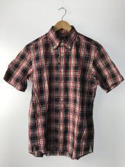 半袖シャツ/L/コットン/RED/チェック/2259426071