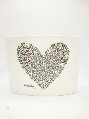 壷・花瓶/creativando/Keith Haring/people with heart vase/WHT