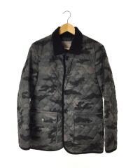 キルティングジャケット/M/ポリエステル/GRY/カモフラ