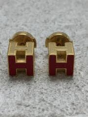 Hキューブ/カージュドアッシュ/ピアス/レッド/ゴールド/H604005F